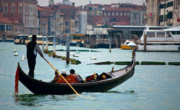 Venice-gondolier Royalty Free Stock Images