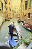 Venice gondolier Royalty Free Stock Images