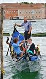 Venice  gondolier Stock Image