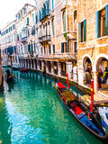 Venice gondolier and gondola Royalty Free Stock Image