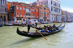 Venice Gondoliers Grand Canal Stock Photo