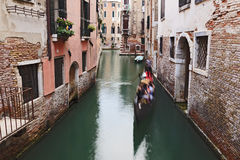 Venice Gongola Chanel Day Stock Photography