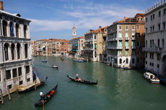 Venice Grand Canal. Grand Canal in venice, Italy Royalty Free Stock Image
