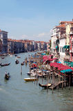 Venice - grand canal. Venice - historic buildings - grand canal view Royalty Free Stock Images