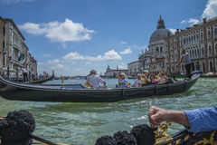 In Venice (the Grand Canal) Stock Photos
