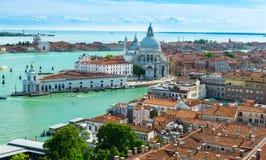 Venice, Grand canal, Basilica Santa Maria della Salute Royalty Free Stock Photography