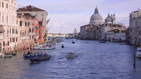 Venice. Grand Canal. Basilica Santa Maria stock video footage