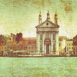 Venice Grand Canal. And Buildings stock illustration