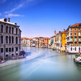Venice grand canal or Canal Grande, view from Rialto bridge. Ita Royalty Free Stock Image