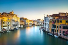 Venice grand canal or Canal Grande, view from Rialto bridge. Ita Royalty Free Stock Photography