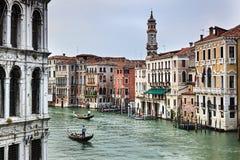 Venice Grand Canal Close Palaces Stock Photos