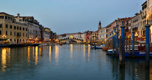Venice. The Grand Canal in Venice in the evening Royalty Free Stock Photos