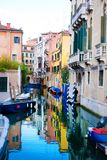 Venice Grand canal with gondola, Italy Royalty Free Stock Images