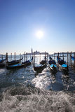Venice, Grand canal with gondolas Royalty Free Stock Photo