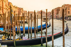 Venice Grand Canal with gondolas, Italy. Royalty Free Stock Image
