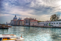 Venice grand canal in hdr tone Royalty Free Stock Images