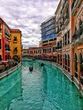 Venice Grand Canal Mall stock image