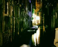 Venice Grand Canal at night royalty free stock images