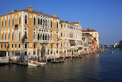 Venice Grand Canal panorama Royalty Free Stock Photo