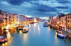 Venice - Grand canal from Rialto bridge Stock Photography