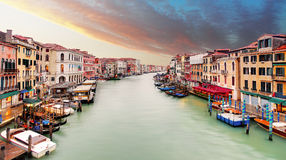 Venice - Grand canal from Rialto bridge Stock Images