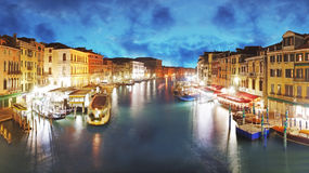 Venice - Grand Canal from Rialto bridge, Italy Stock Photos