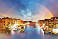 Venice - Grand Canal from Rialto bridge, Italy Royalty Free Stock Photo