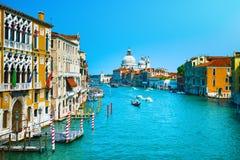 Venice grand canal, Santa Maria della Salute church landmark. It Stock Image
