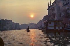 Venice Grand canal sunset Stock Photo