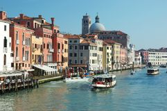 Venice grand canal view,Italy Royalty Free Stock Photos