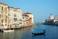 Venice Grand canal view,Italy, old city center - unesco heritage Stock Photo
