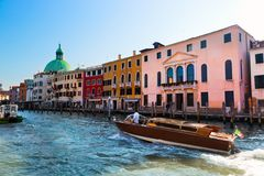 Venice, Grand Canal view, Italy. Sunny day Royalty Free Stock Photos