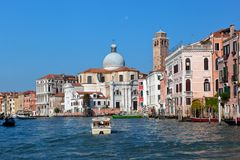 Venice, Grand Canal view, Italy. Sunny day Royalty Free Stock Photography