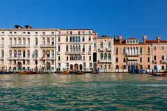 Venice, Grand Canal view, Italy. Sunny day Royalty Free Stock Image