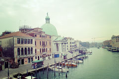Venice Grand Canal in vintage tone Stock Images