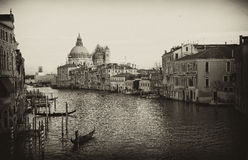 Venice grand canal at winter , Italy Stock Images