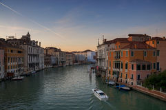 Venice grand canal at winter , Italy Stock Image