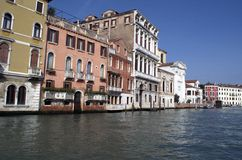 Venice Grand Channel Buildings Royalty Free Stock Images