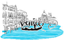 Venice Grand View Greeting Card Design Royalty Free Stock Photos