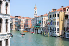 Venice Grande Canal Scenic View Stock Images