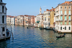 Venice Grande Canal scenic view Royalty Free Stock Photography