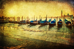 Venice with grunge texture Stock Image