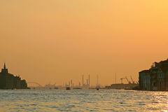Venice harbor Stock Image