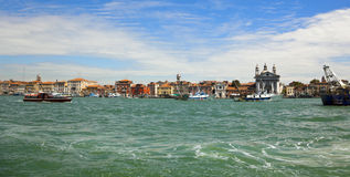 Venice harbour district panorama Royalty Free Stock Images