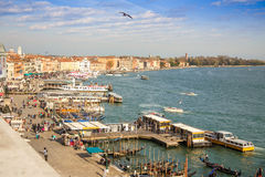 Venice harbour. Royalty Free Stock Photos