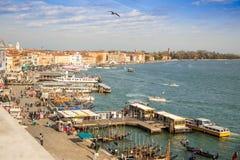 Venice harbour. Royalty Free Stock Photos