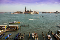 Venice harbour. Stock Photo
