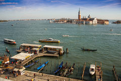 Venice harbour. Royalty Free Stock Image