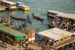 Venice harbour. Royalty Free Stock Images