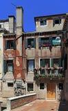 Venice historic city center, Veneto rigion, Italy - streets and. Venice, Veneto / Italy - 2012/07/05: Venice city center - streets and tenement houses of the San stock photo